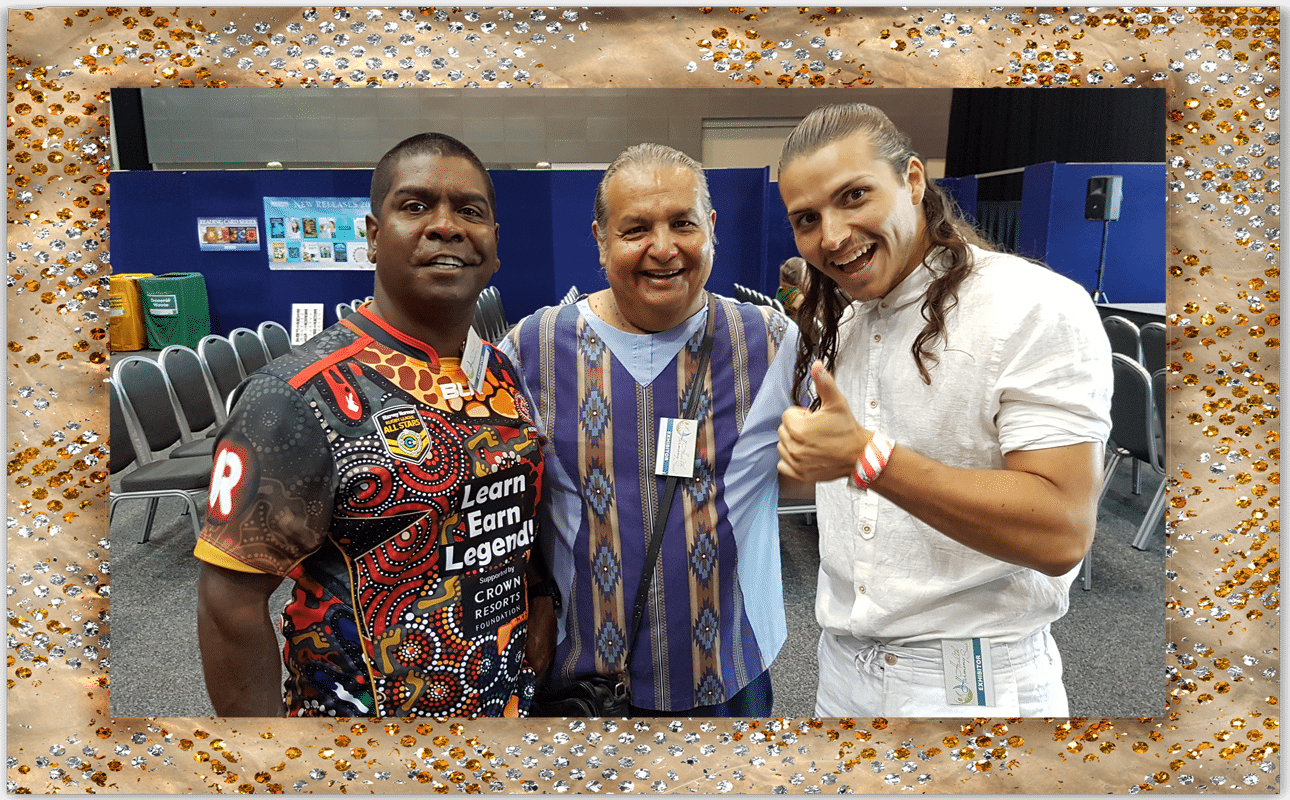 Jida Gulpilil Bobby Running Fox Eagle Dancer 2017 Harmony and Soul Expo Gold Coast Convention Center